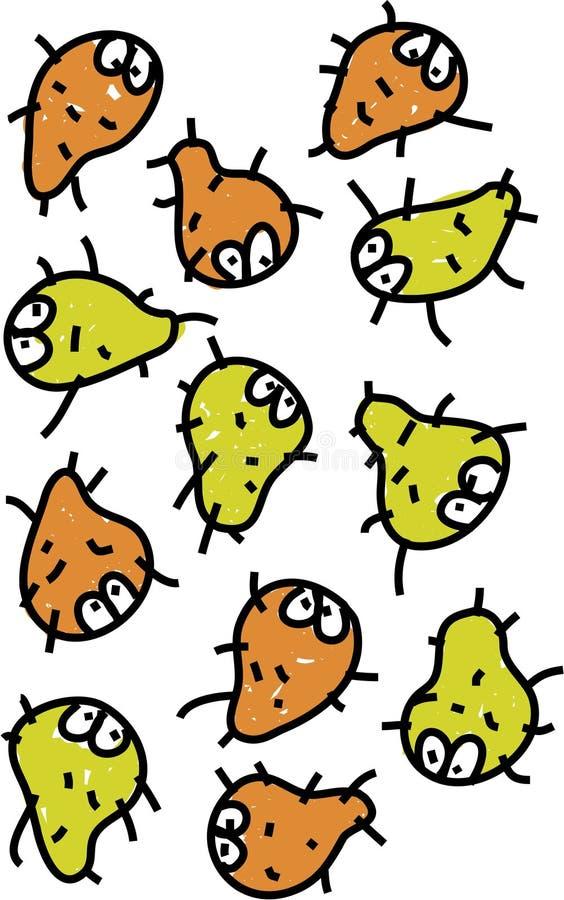 εισβολή μικροβίων διανυσματική απεικόνιση