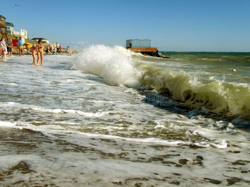 Εισερχόμενο κύμα θάλασσας στοκ εικόνα