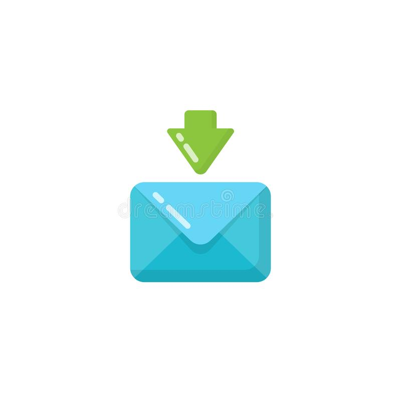 εισερχόμενο σχέδιο εικονιδίων φακέλων μηνυμάτων λαμβανόμενο ηλεκτρονικό ταχυδρομείο σχέδιο εικονιδίων διανυσματική απεικόνιση