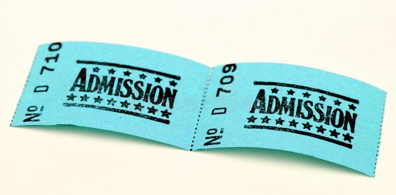 εισιτήρια δύο αποδοχής στοκ εικόνα