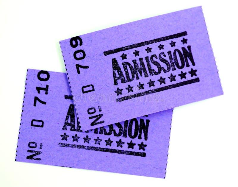 εισιτήρια δύο αποδοχής στοκ φωτογραφία με δικαίωμα ελεύθερης χρήσης