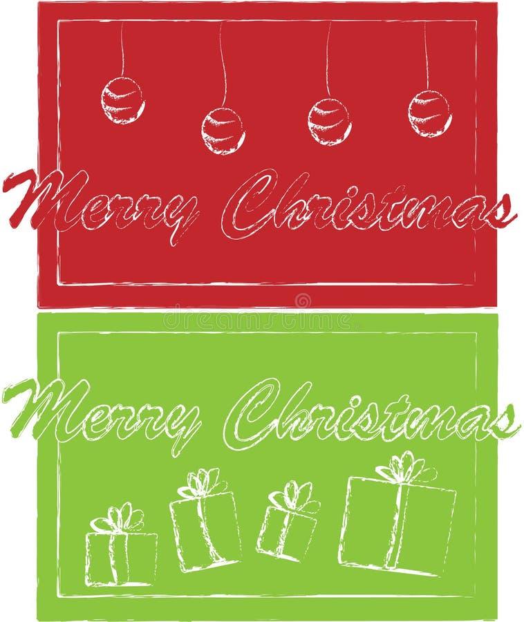 Εισιτήρια Χριστουγέννων διανυσματική απεικόνιση