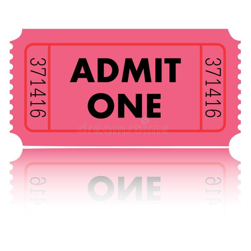 εισιτήριο απεικόνισης απεικόνιση αποθεμάτων