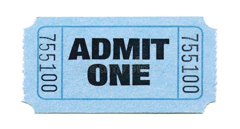 εισιτήριο αποδοχής στοκ φωτογραφία με δικαίωμα ελεύθερης χρήσης