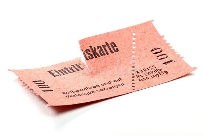 Εισιτήριο αποδοχής στοκ φωτογραφίες με δικαίωμα ελεύθερης χρήσης