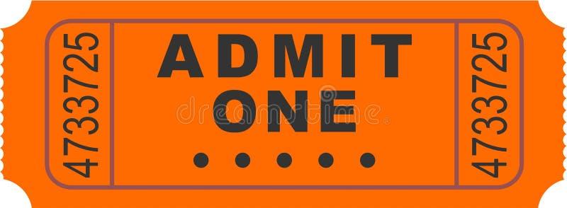 εισιτήριο εισόδων διανυσματική απεικόνιση