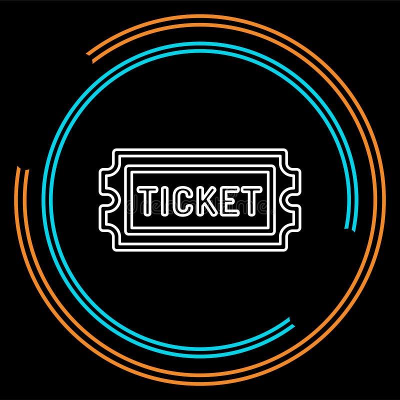 Εισιτήριο κινηματογράφων το διάνυσμα αναγνωρίζει το ένα, πέρασμα αποδοχής ελεύθερη απεικόνιση δικαιώματος