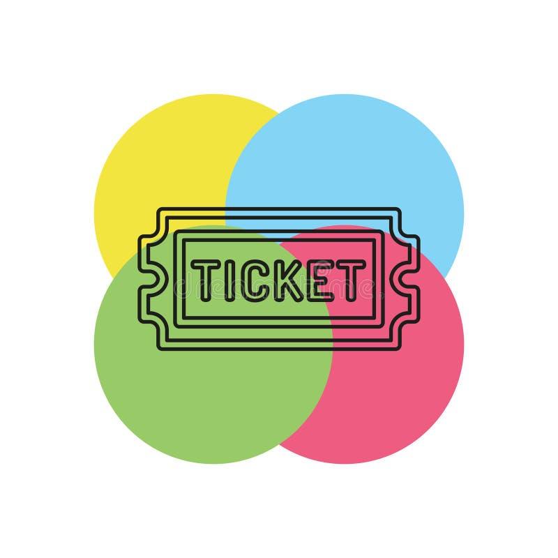 Εισιτήριο κινηματογράφων το διάνυσμα αναγνωρίζει το ένα, πέρασμα αποδοχής διανυσματική απεικόνιση