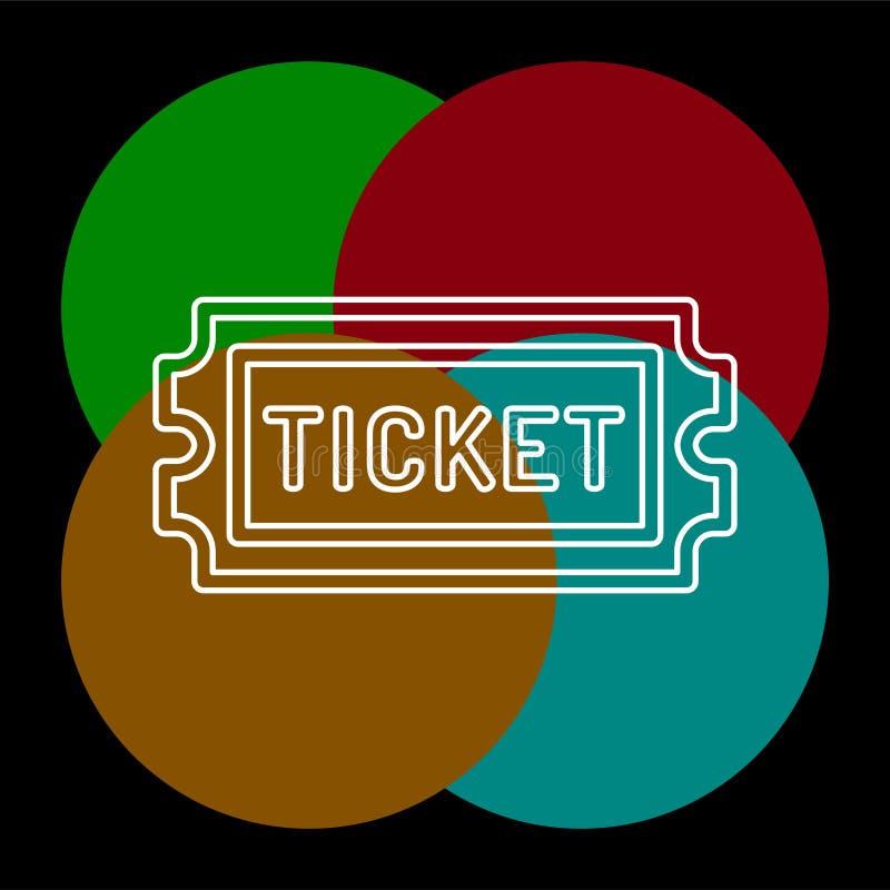 Εισιτήριο κινηματογράφων το διάνυσμα αναγνωρίζει το ένα, πέρασμα αποδοχής απεικόνιση αποθεμάτων