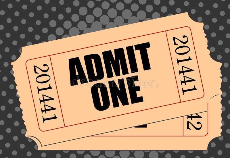 εισιτήριο κινηματογράφω&nu ελεύθερη απεικόνιση δικαιώματος