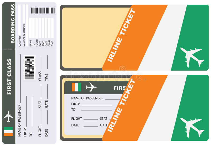 Εισιτήριο στο ελεφαντόδοντο ακτών διανυσματική απεικόνιση