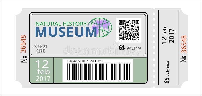εισιτήριο meseum απεικόνιση αποθεμάτων