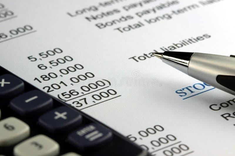 Εισοδηματική δήλωση επιχειρησιακής λογιστικής στοκ φωτογραφίες με δικαίωμα ελεύθερης χρήσης