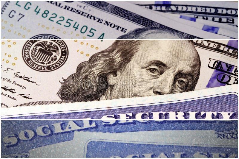 Εισόδημα κοινωνικής ασφάλισης και αποχώρησης στοκ εικόνα με δικαίωμα ελεύθερης χρήσης