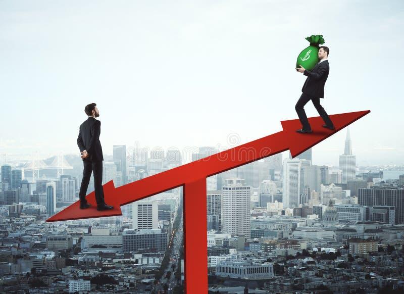 Εισόδημα και έννοια πωλήσεων διανυσματική απεικόνιση