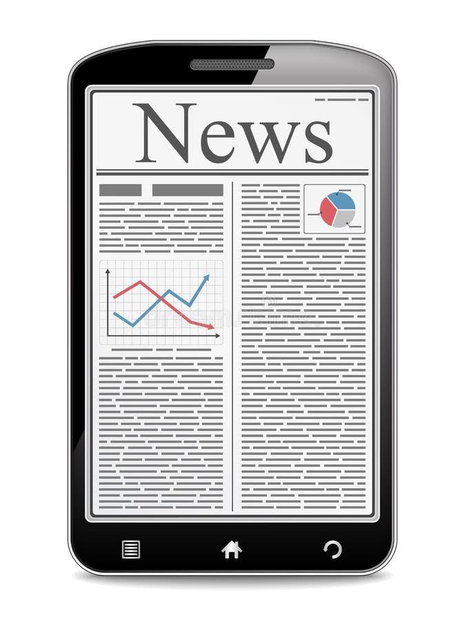 Ειδήσεις στο κινητό τηλέφωνο διανυσματική απεικόνιση