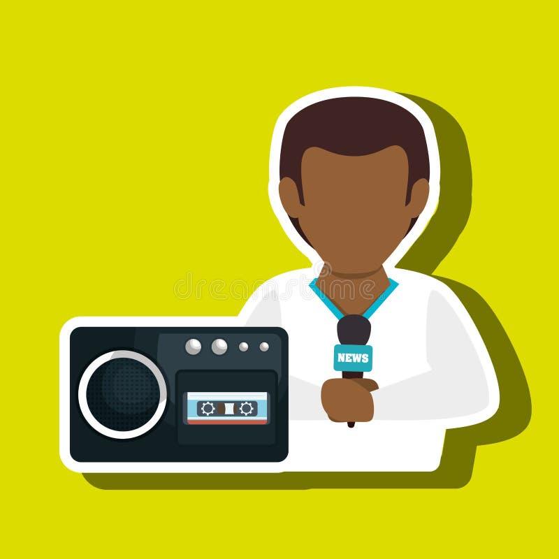 ειδήσεις συσκευών φωνητικής ηχογράφησης ατόμων απεικόνιση αποθεμάτων