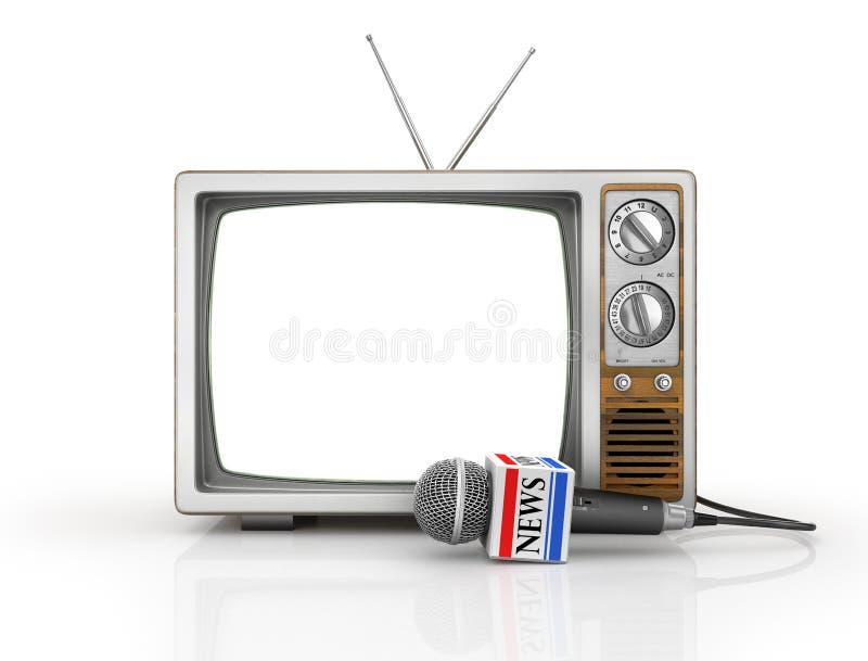 Ειδήσεις TV ή έννοια ρεπορτάζ διανυσματική απεικόνιση
