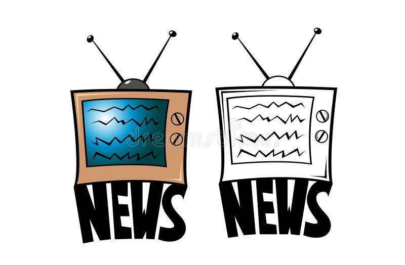 Ειδήσεις TV απεικόνιση αποθεμάτων