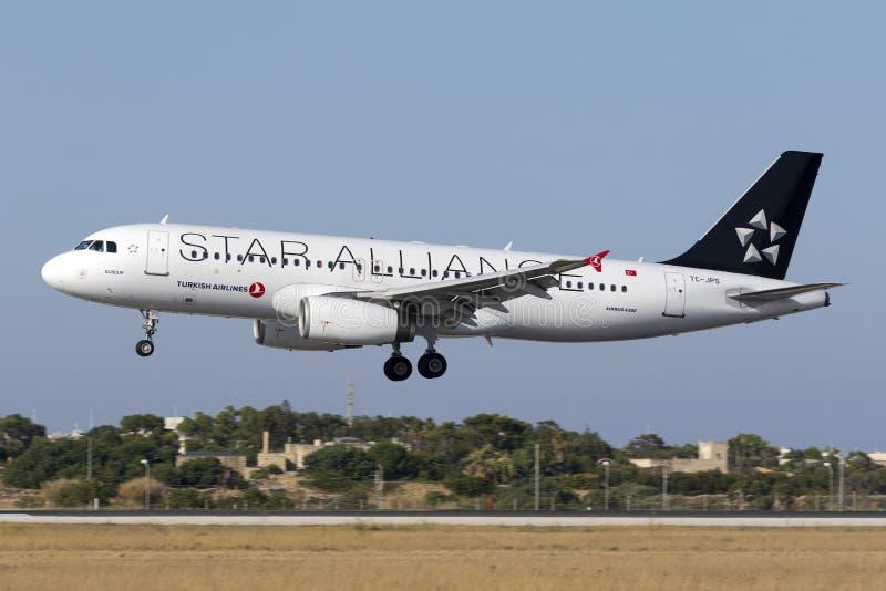 Ειδική στολή Turkish Airlines A320 στοκ φωτογραφία με δικαίωμα ελεύθερης χρήσης