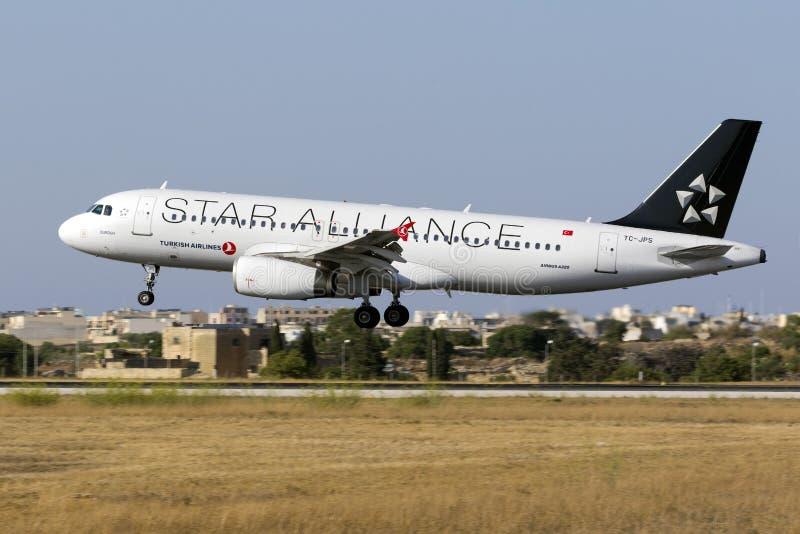 Ειδική στολή Turkish Airlines A320 στοκ φωτογραφίες με δικαίωμα ελεύθερης χρήσης