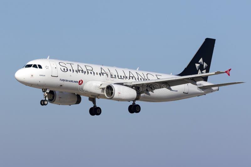 Ειδική στολή Turkish Airlines A320 στοκ φωτογραφίες