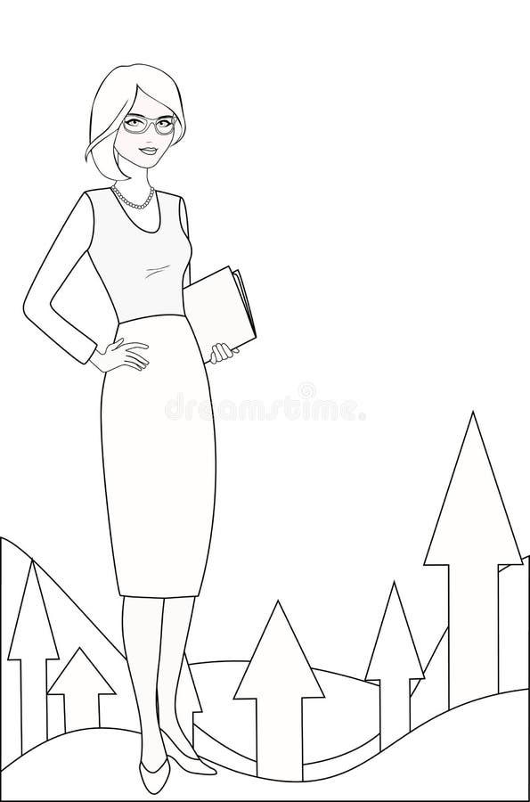Ειδικός δημόσιων σχέσεων στην άσπρος-μαύρη παραλλαγή διανυσματική απεικόνιση