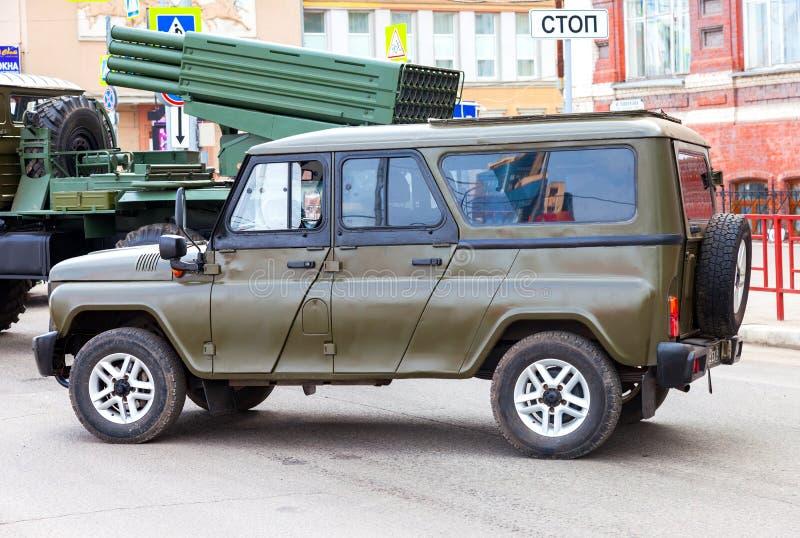 Ειδικό ρωσικό τεθωρακισμένο όχημα uaz-3152 ουσάρος στοκ φωτογραφία με δικαίωμα ελεύθερης χρήσης