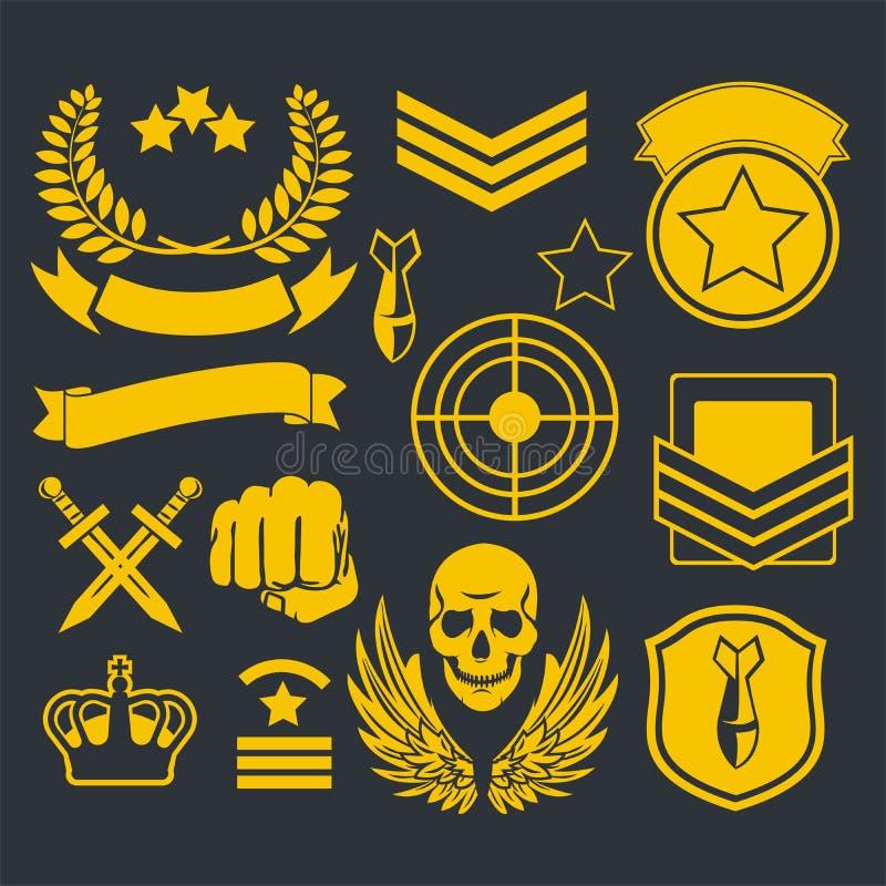 Ειδικό στρατιωτικό μπάλωμα μονάδων απεικόνιση αποθεμάτων