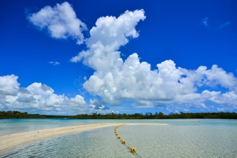 Ειδυλλιακή τροπική θάλασσα και τυρκουάζ νερό στοκ φωτογραφίες με δικαίωμα ελεύθερης χρήσης