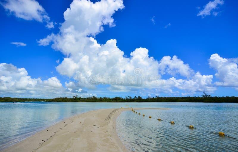 Ειδυλλιακή τροπική θάλασσα και τυρκουάζ νερό στοκ εικόνα με δικαίωμα ελεύθερης χρήσης