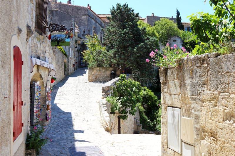 Ειδυλλιακό χωριό Les baux-de-Προβηγκία, Γαλλία στοκ εικόνα
