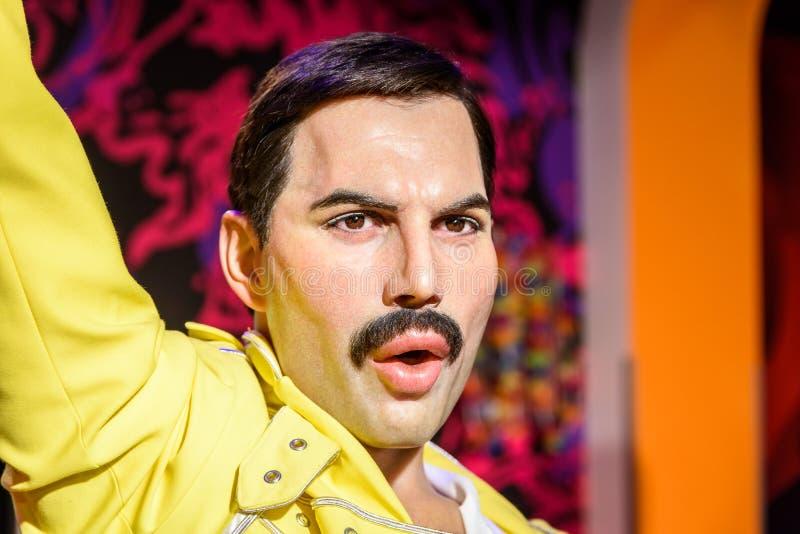Ειδώλιο υδραργύρου του Freddie στην κυρία Tussauds Wax Museum στοκ φωτογραφία με δικαίωμα ελεύθερης χρήσης