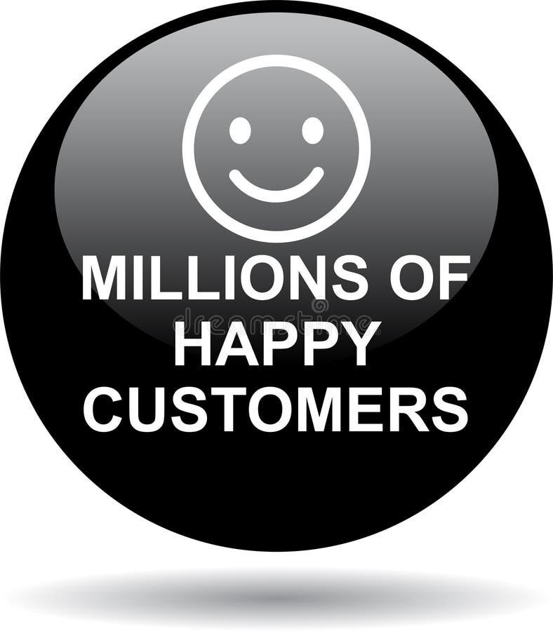 Εκατομμύρια των ευτυχών πελατών απεικόνιση αποθεμάτων