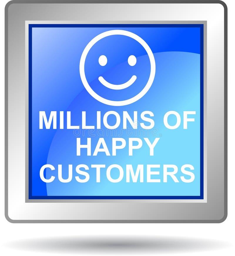Εκατομμύρια των ευτυχών πελατών ελεύθερη απεικόνιση δικαιώματος