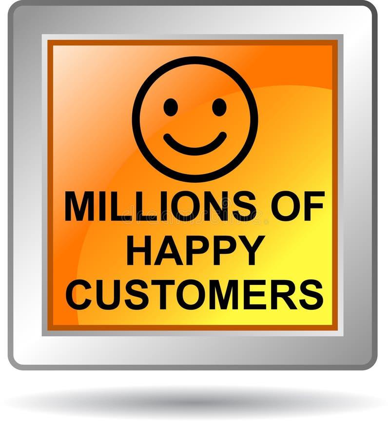 Εκατομμύρια των ευτυχών πελατών διανυσματική απεικόνιση