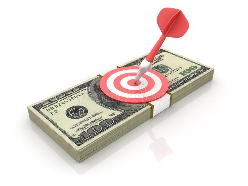 Εκατό δολάριο Bill με το στόχο διανυσματική απεικόνιση