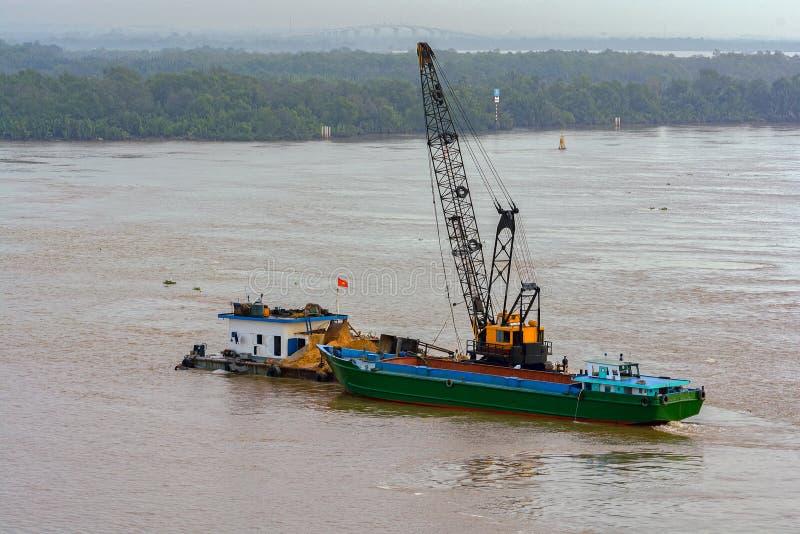 Εκβάθυνση του ποταμού Saigon (κυβέρνηση της Νιγηρίας Sai τραγουδιού) Βιετνάμ στοκ φωτογραφία με δικαίωμα ελεύθερης χρήσης
