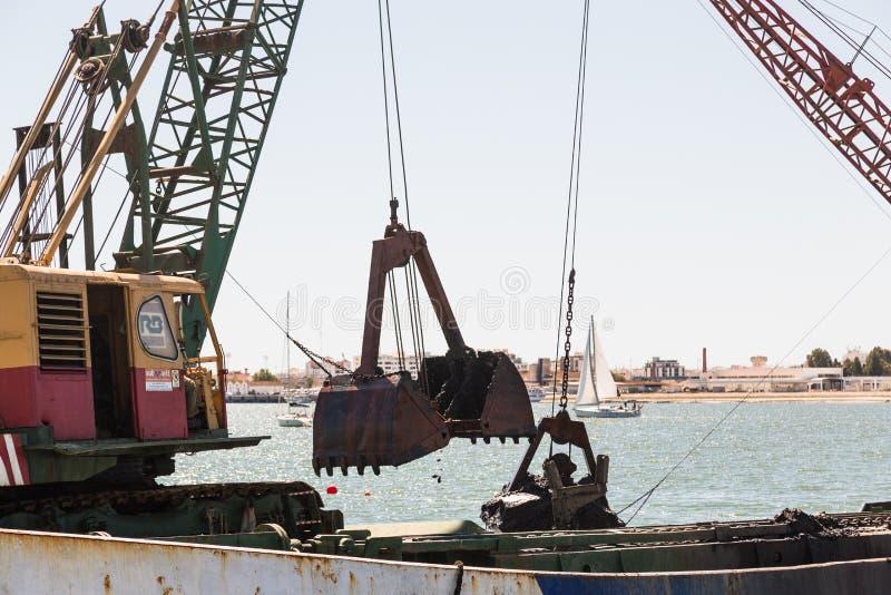 Εκβάθυνση Ayamonte, λιμάνι Ισπανία Ανδαλουσία στοκ εικόνα