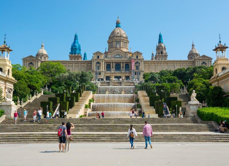 εκδοτικός Το Μάιο του 2018 Τοποθετήστε Montjuic, Βαρκελώνη, Ισπανία Το nati στοκ φωτογραφία με δικαίωμα ελεύθερης χρήσης