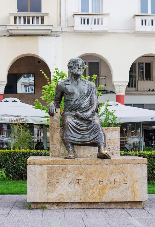 Εκδοτικός E ΘΕΣΣΑΛΟΝΙΚΗ, ΕΛΛΑΔΑ Μνημείο Αριστοτέλη στην πλατεία του Αριστοτέλη στοκ φωτογραφία
