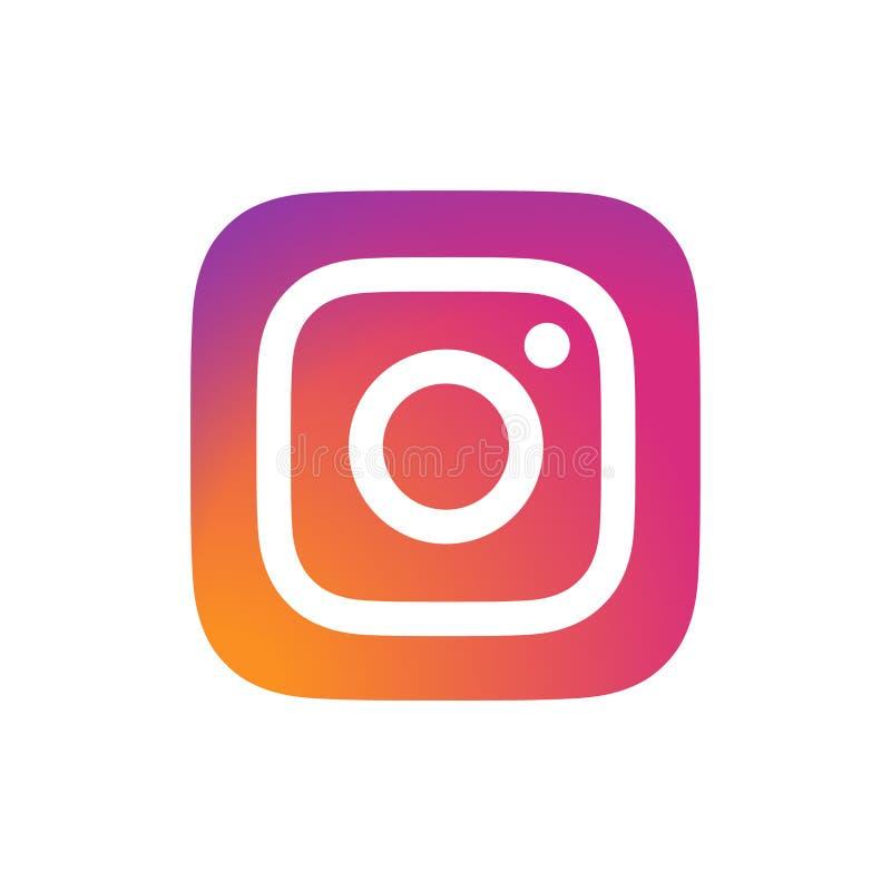 Εκδοτικό διάνυσμα λογότυπων Instagram διανυσματική απεικόνιση