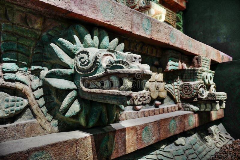 Εκθέσεις στο Εθνικό Μουσείο της ανθρωπολογίας, Πόλη του Μεξικού στοκ φωτογραφία με δικαίωμα ελεύθερης χρήσης