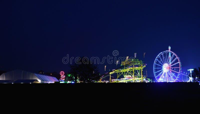 Εκθεσιακός χώρος τη νύχτα στοκ φωτογραφίες με δικαίωμα ελεύθερης χρήσης