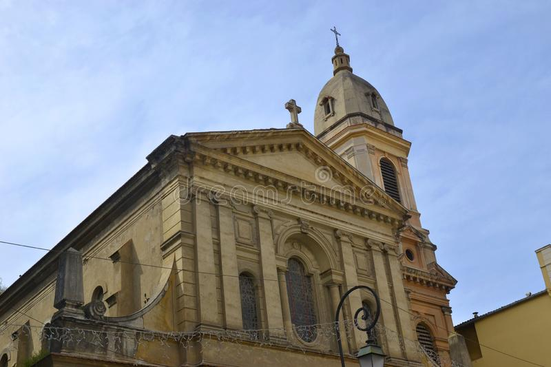 Εκκλησία Άγιος-Roch, Ajaccio, Κορσική, Γαλλία στοκ εικόνες με δικαίωμα ελεύθερης χρήσης