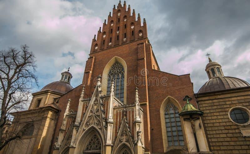 Εκκλησία Αγίου Francis Assisi στην παλαιά πόλη της Κρακοβίας Πολωνία στοκ φωτογραφία με δικαίωμα ελεύθερης χρήσης