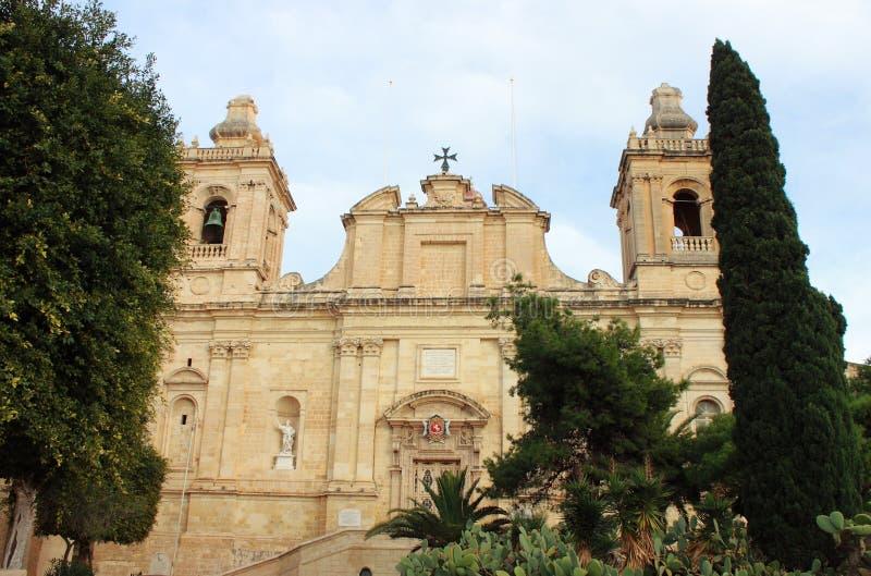 Εκκλησία Αγίου Lawrence σε Vittoriosa στοκ εικόνες