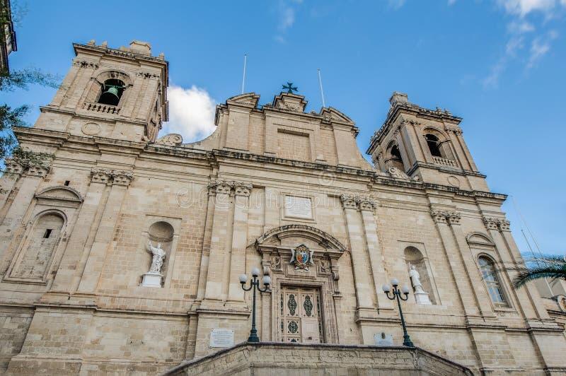 Εκκλησία Αγίου Lawrence σε Vittoriosa (Birgu), Μάλτα στοκ εικόνες με δικαίωμα ελεύθερης χρήσης