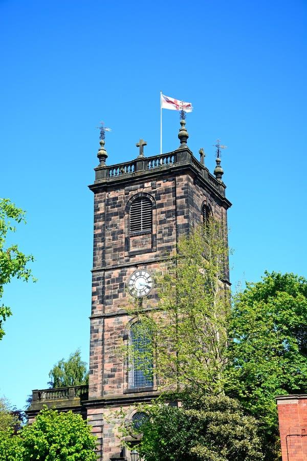 Εκκλησία Αγίου Modwens, Burton επάνω στο Trent στοκ φωτογραφίες