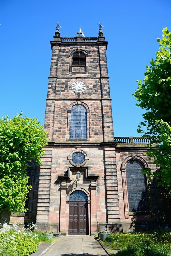 Εκκλησία Αγίου Modwens, Burton επάνω στο Trent στοκ εικόνα με δικαίωμα ελεύθερης χρήσης